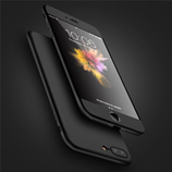 Black 3 in 1 Combo 360 Degree Full Protection iPhone Case